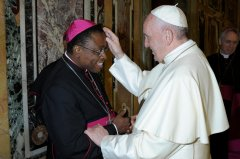 The Holy Father Blesses the Auxiliary Bishop